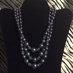 """17"""" triple strand beaded necklace"""